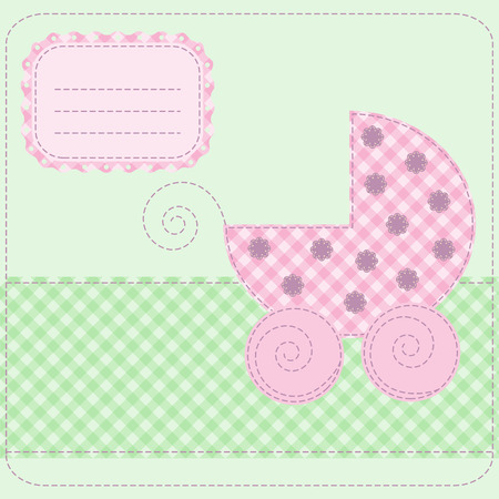 Baby girl arrival card - vector illustration Stock Vector - 6642907