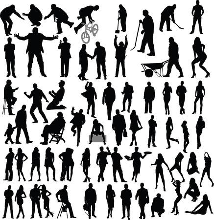 people, silhouette Illustration