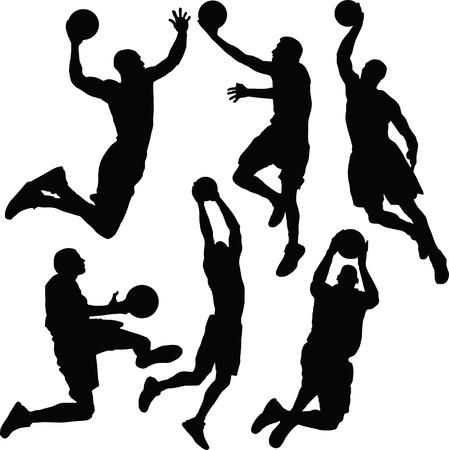 Basketball,  silhouette Vector