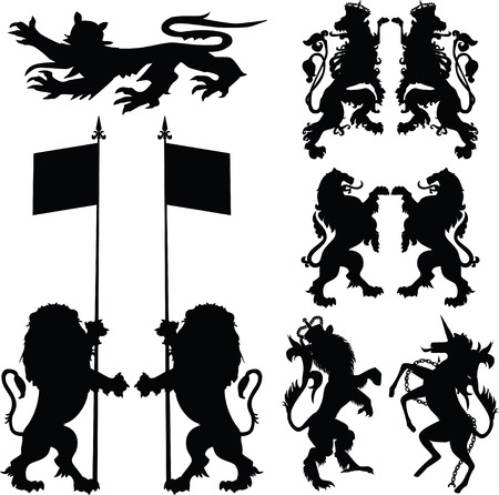 coat, emblem, ilustration, tattoo Vector