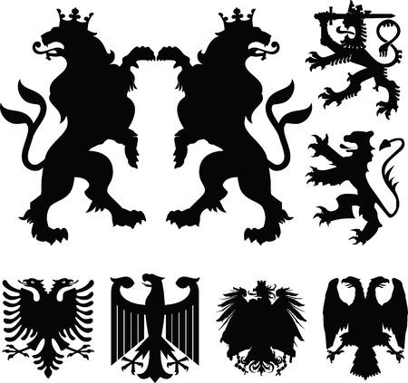 laureles: Escudo, emblema de tatuaje Vectores