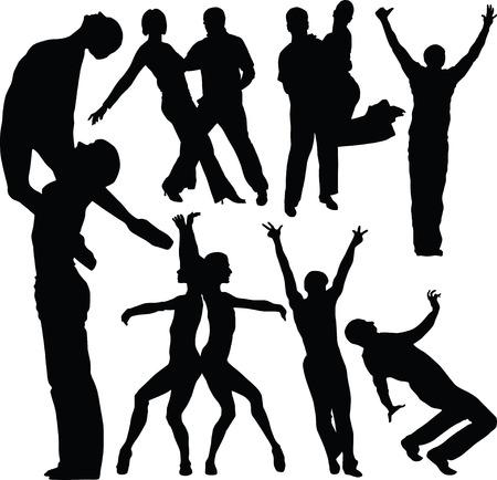exaltation: Dance,  silhouette Illustration