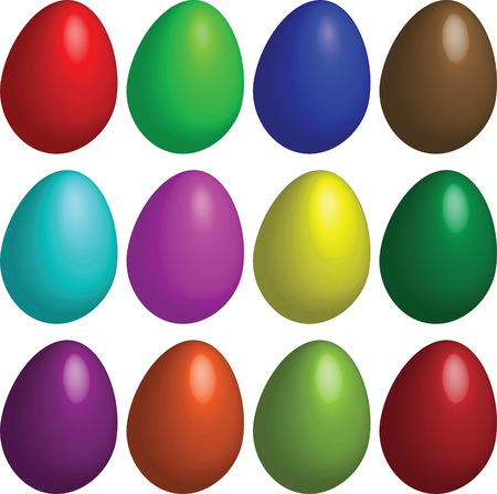 easter, eggs, color Stock Vector - 6500834