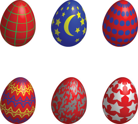 easter eggs 3d Stock Vector - 6500863