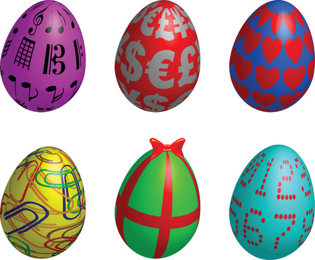 easter eggs symbol Stock Vector - 6500869