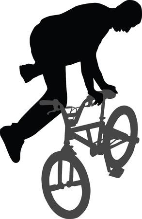 bike biker bicycle Stock Vector - 6984957