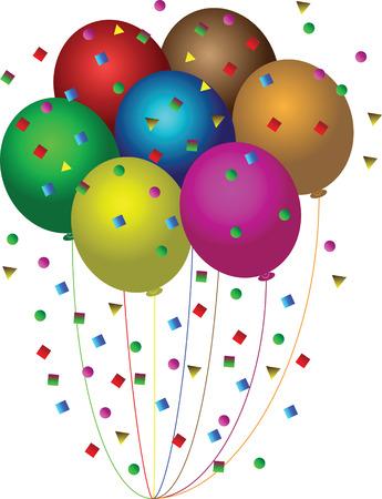 balloons confetti Vector
