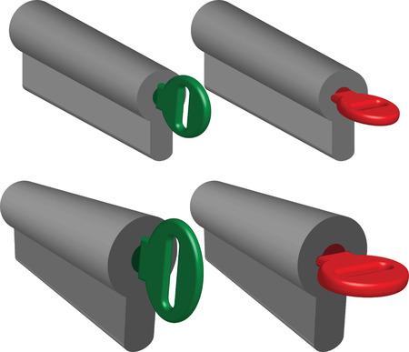 key lock Stock Vector - 6984976