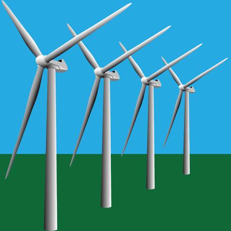 windmill Stock Vector - 6984972