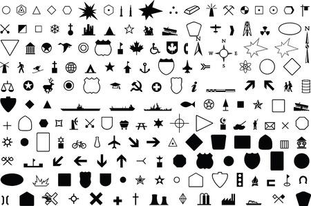 geographic symbol Illustration