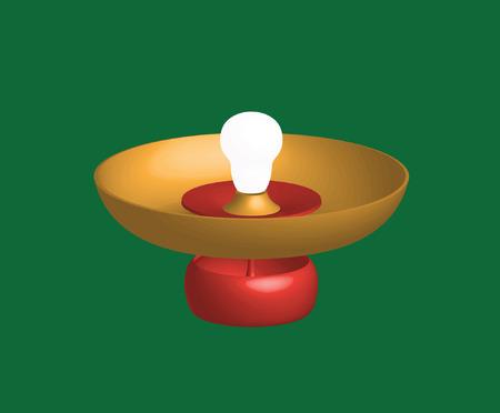 extinguish: lamp light