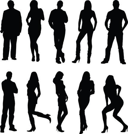 bailarines silueta: silueta de mujer de hombre