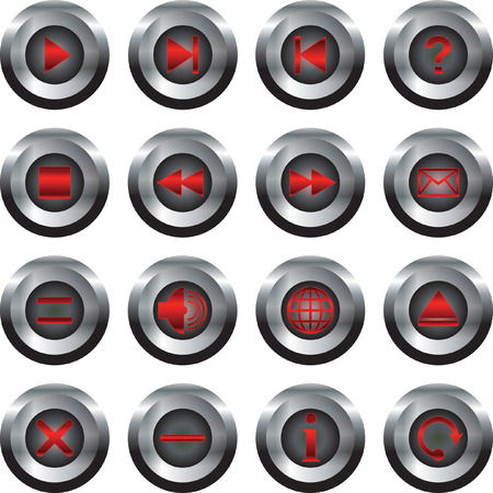 buttons mobile red Vector