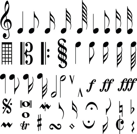 music symbol note Stock Vector - 7036310