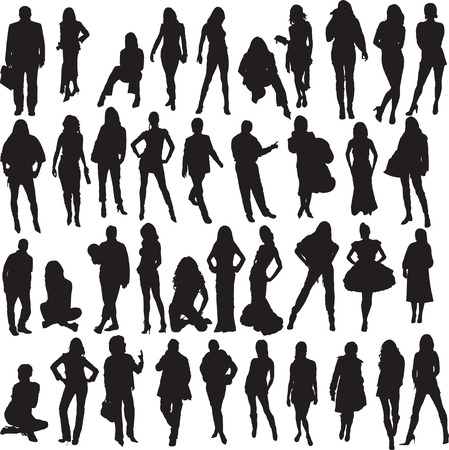 people silhouete  Vector
