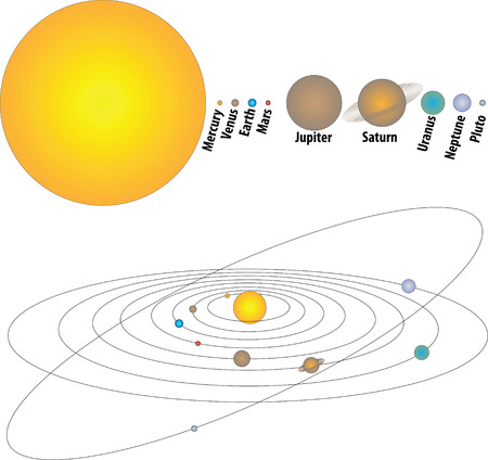 planets white Vector