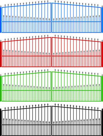 input output: fences, gates, metal Illustration