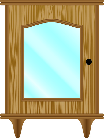 hinges: dresser, furniture, classic, glass Illustration