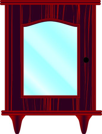 ladenkast: dressoir, meubels, klassiek, kers, glas