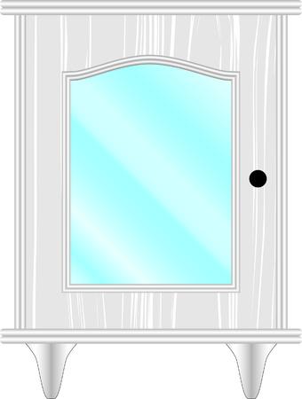 ladenkast: dressoir, meubels, klassiek, wit, glas