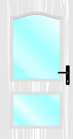 hinges: door, classic, white, glass