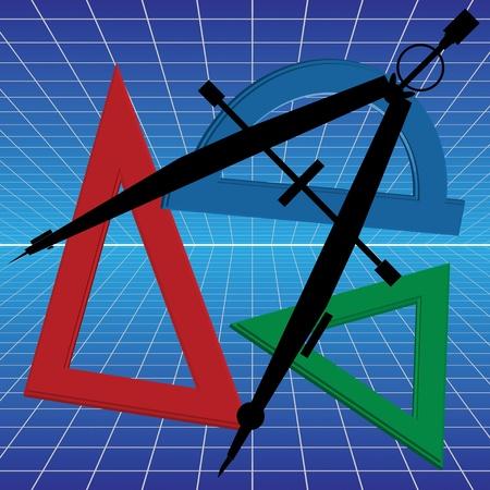 proofs: mathematics, school Illustration