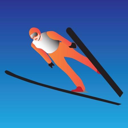 skier, jumping Stock Vector - 9421005