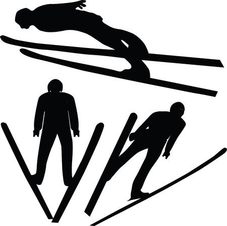 skier, flight Vector