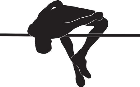 high jump men Vector