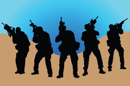 Army soldiers Stock Vector - 9421008