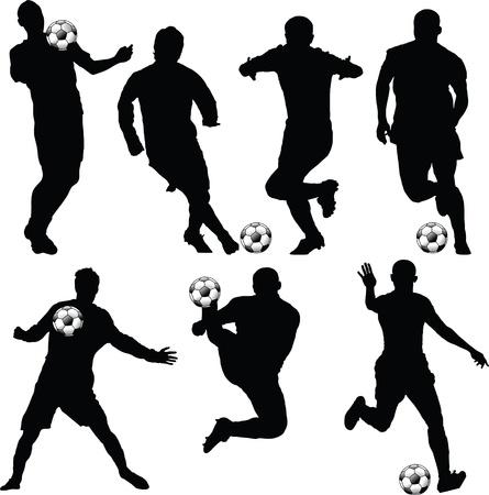 soccer silhouette Stock Vector - 9421006
