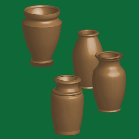 antiquity: vase, antiquity, color Illustration