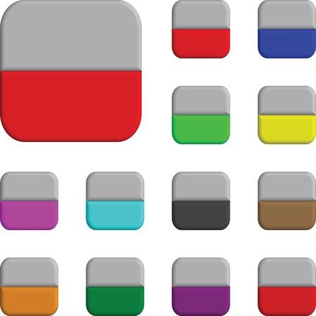 buttons rectangles Vector