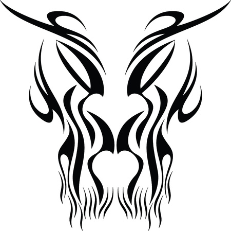 maschera tribale: maschera del tatuaggio tribale Vettoriali
