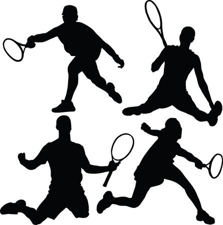 tennis silhouette Illustration