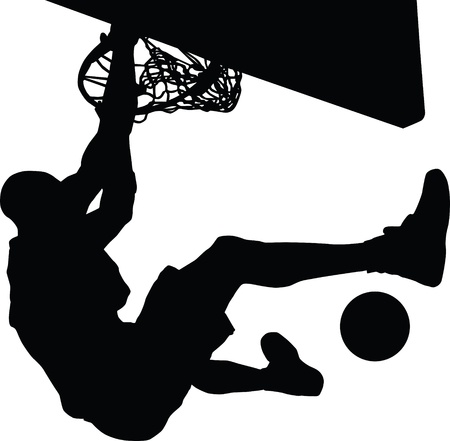 basketball shot: Basketball silhouette