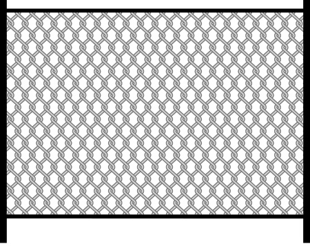 fence. wire Stock Vector - 9469051