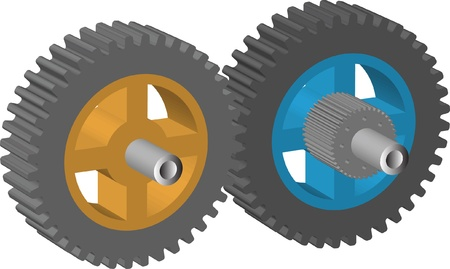 gear in 3d Stock Vector - 9469047