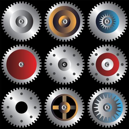 gear in color Vector