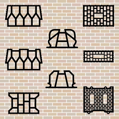brick, wall, vector Vector