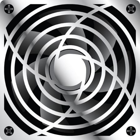 exhaust fan: cooler metal Illustration
