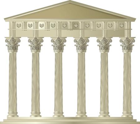 Corinthian Capitol Vettoriali