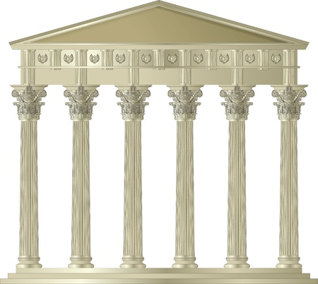 doric: Corinthian Capitol Illustration