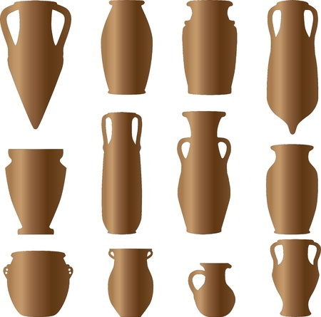antiquity ceramics terracotta Vector