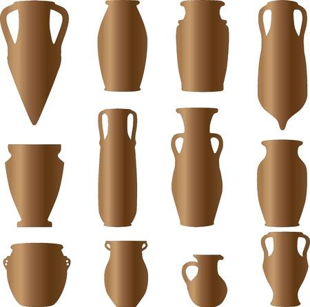 antiquity ceramics terracotta Illustration