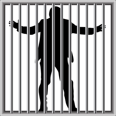 prisoner man: man in prison
