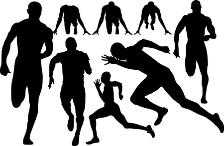 athletics track: sprint silhouette