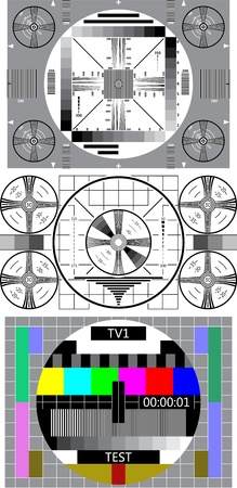 projection screen: tv test pattern