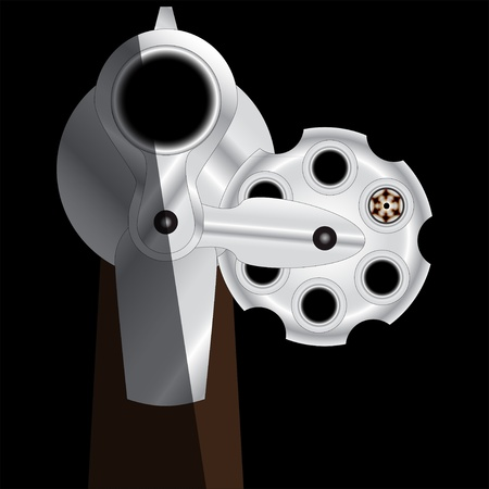 russian roulette revolver Illustration