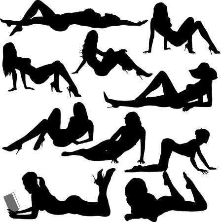 femmes nues sexy: femme �rotique Illustration